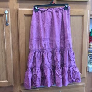 Plum colored skirt